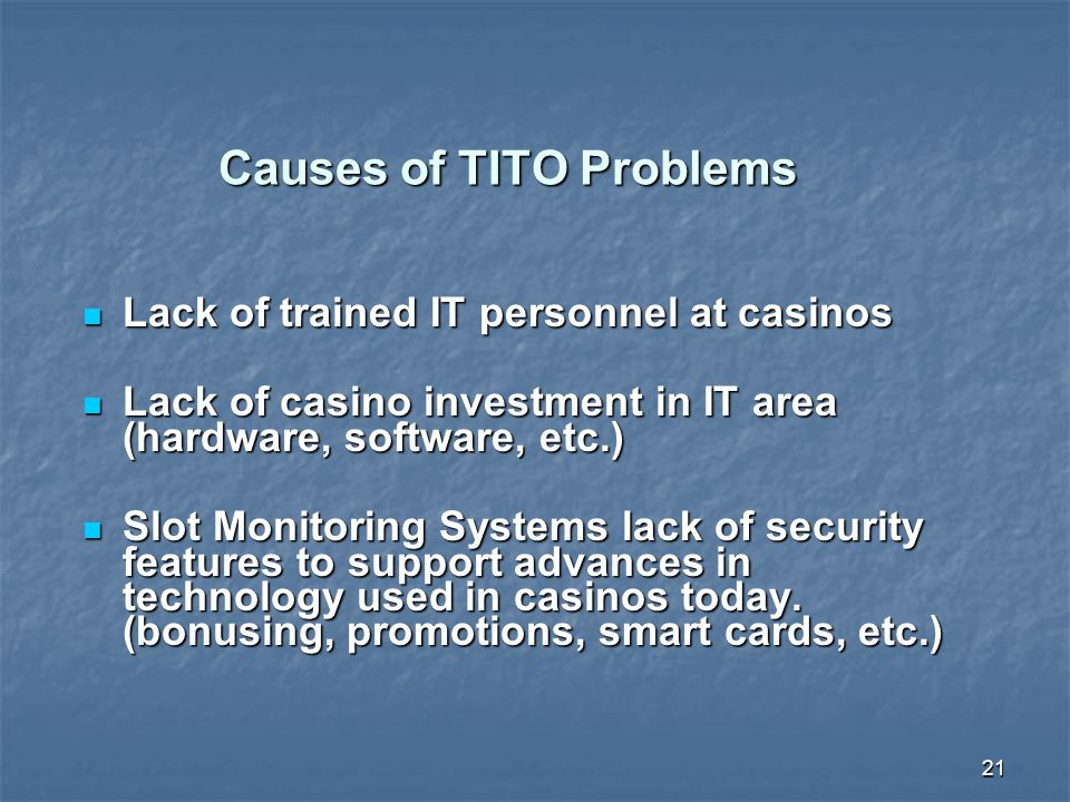 Causes of TITO Problems