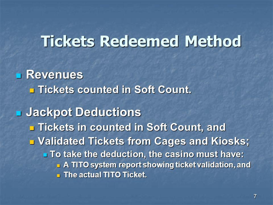Tickets Redeemed Method