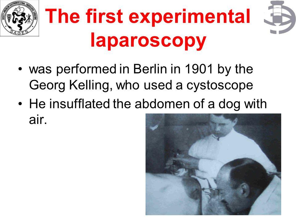 The first experimental laparoscopy