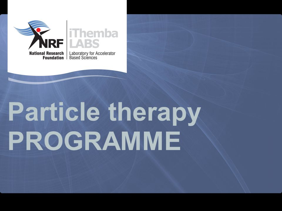 Particle therapy PROGRAMME