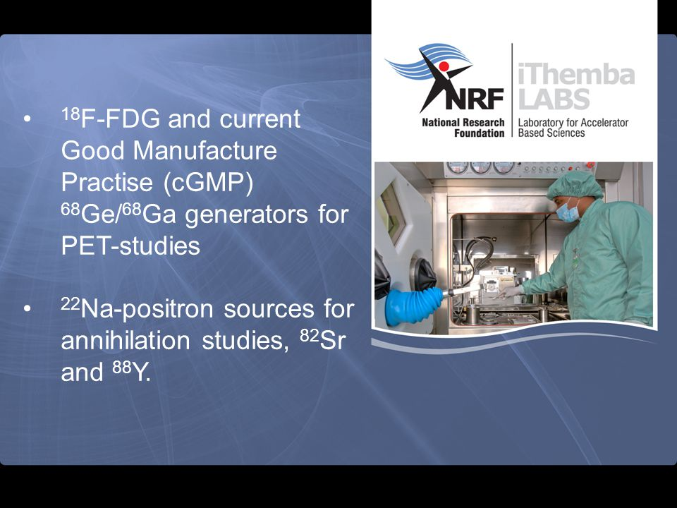 18F-FDG and current Good Manufacture Practise (cGMP) 68Ge/68Ga generators for PET-studies