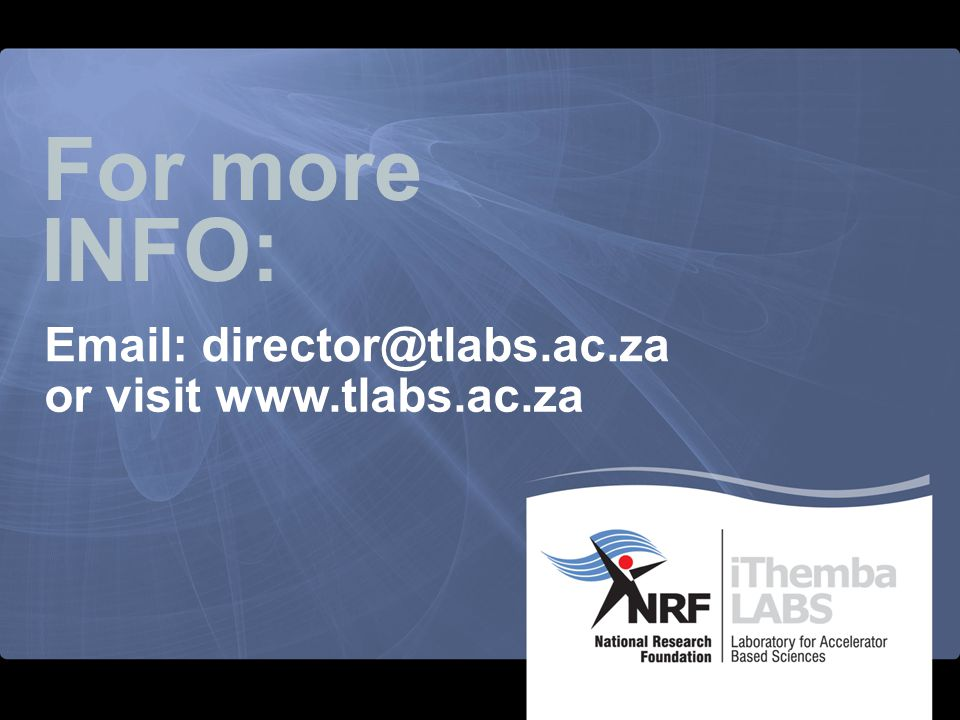 For more INFO: Email: director@tlabs.ac.za or visit www.tlabs.ac.za