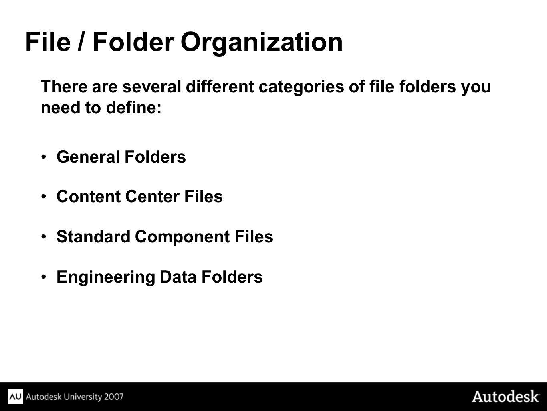 File / Folder Organization