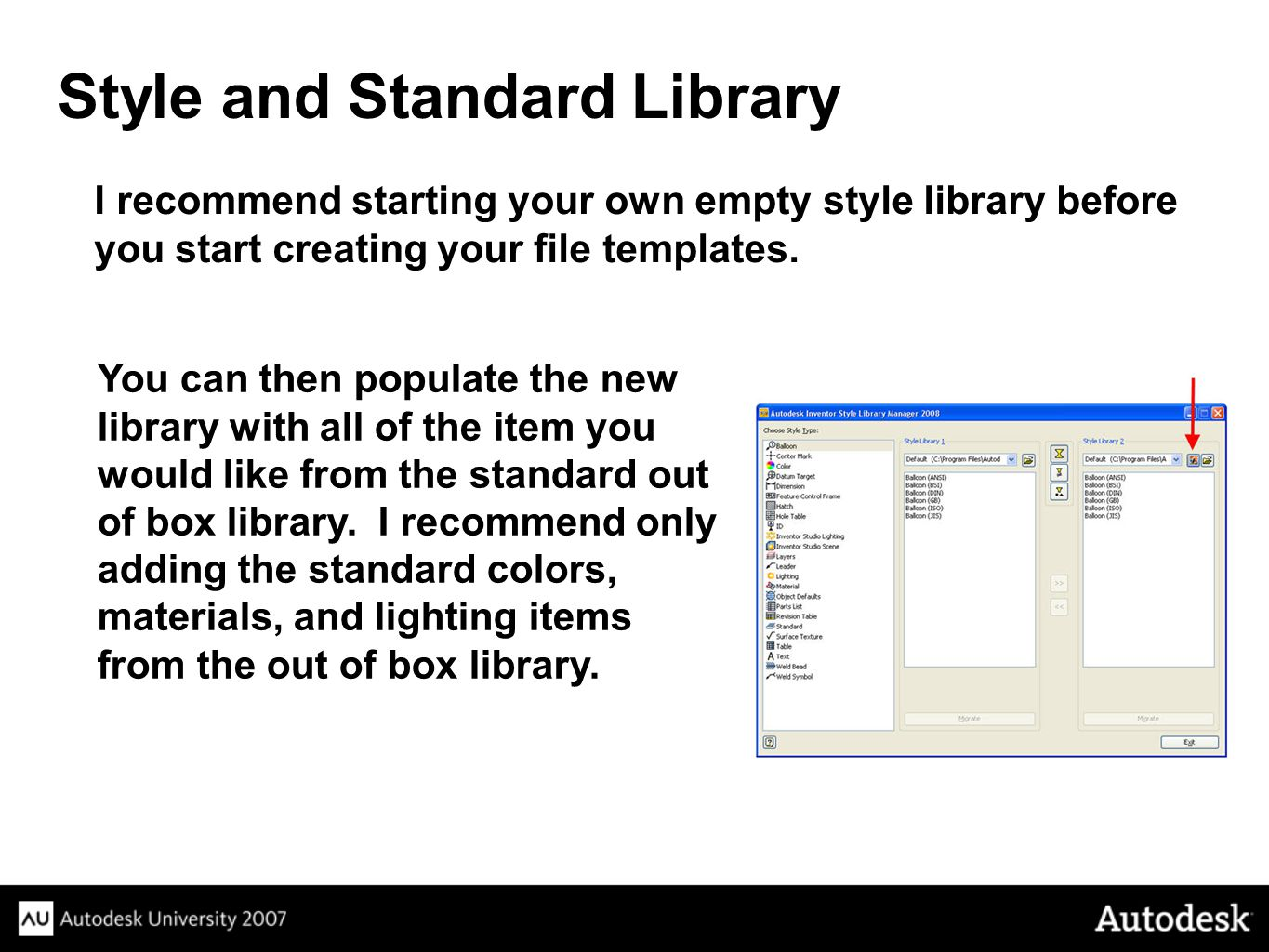 Style and Standard Library