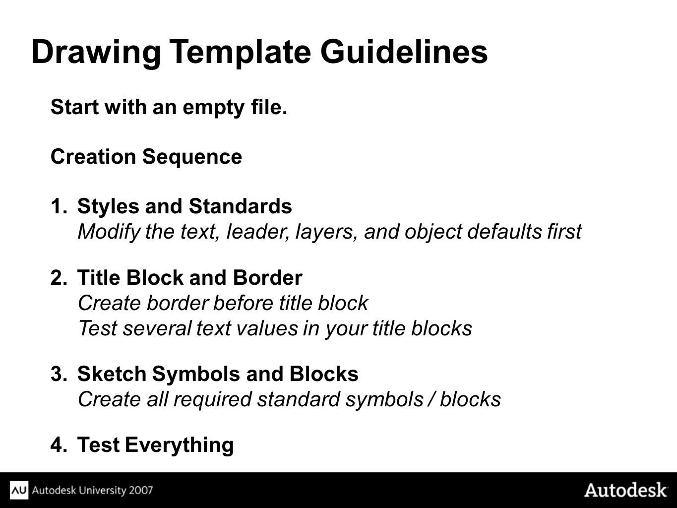 Drawing Template Guidelines