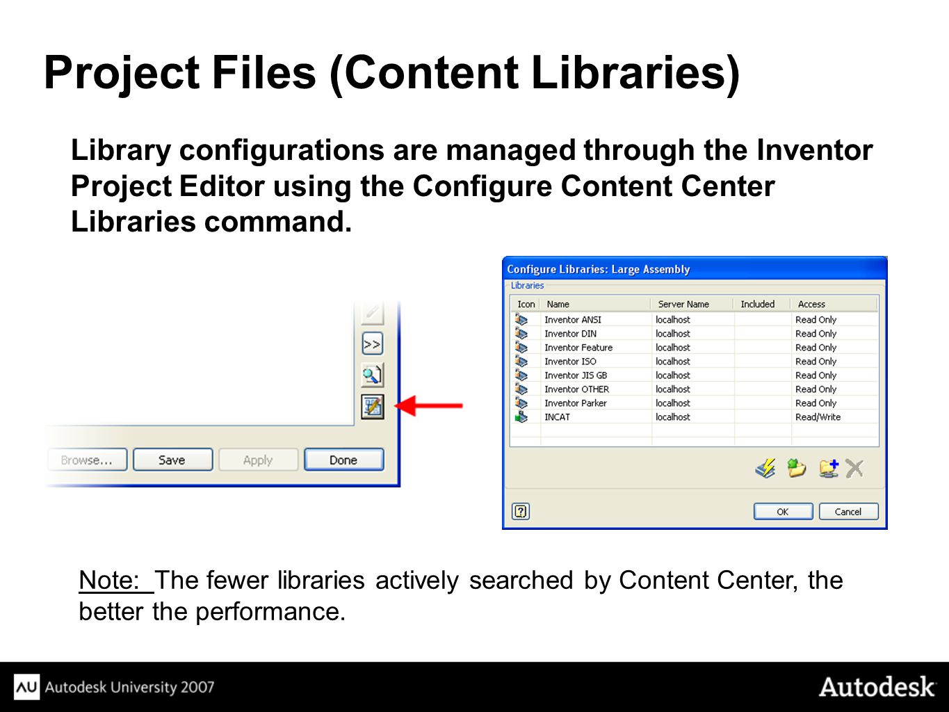 Project Files (Content Libraries)