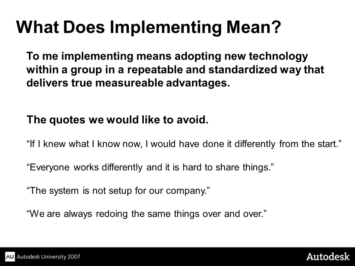 What Does Implementing Mean