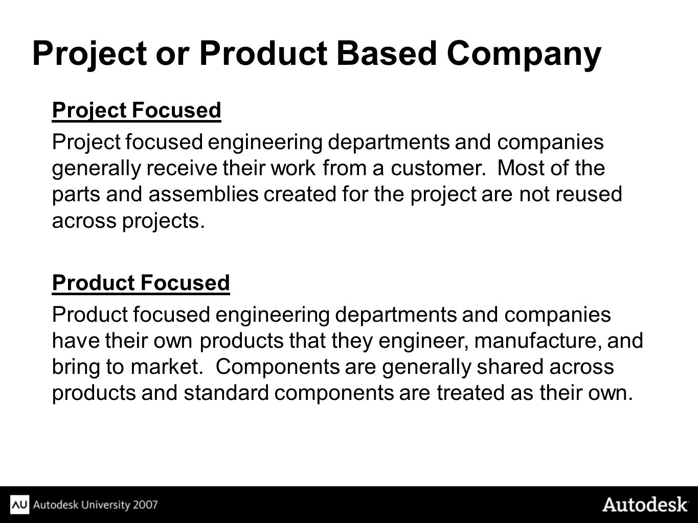 Project or Product Based Company