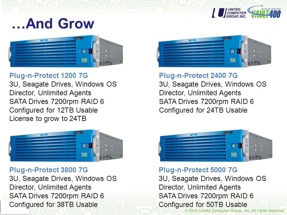 …And Grow Plug-n-Protect 1200 7G 3U, Seagate Drives, Windows OS
