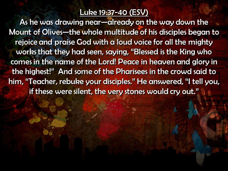 Luke 19:37-40 (ESV)