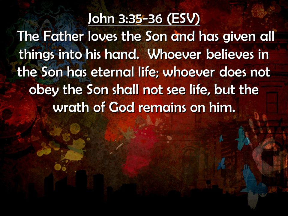 John 3:35-36 (ESV)