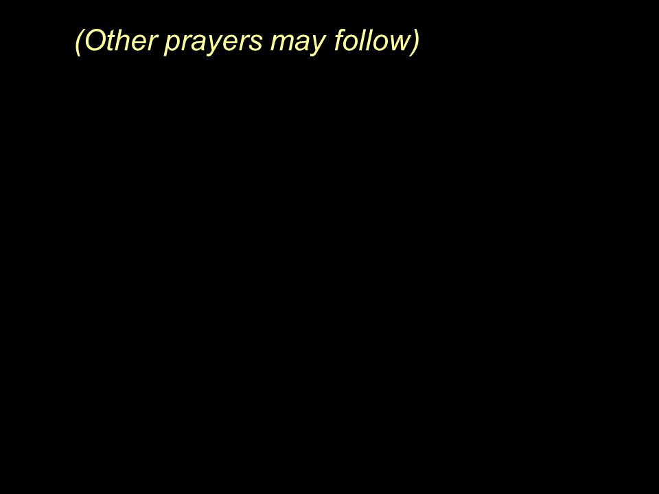(Other prayers may follow)
