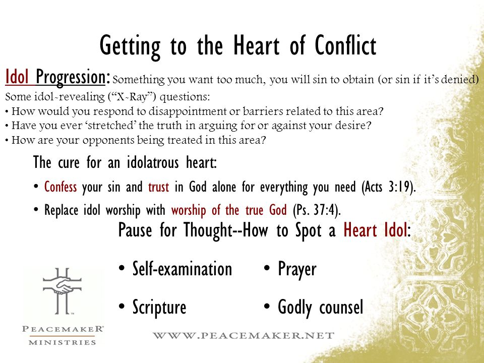 Getting to the Heart of Conflict