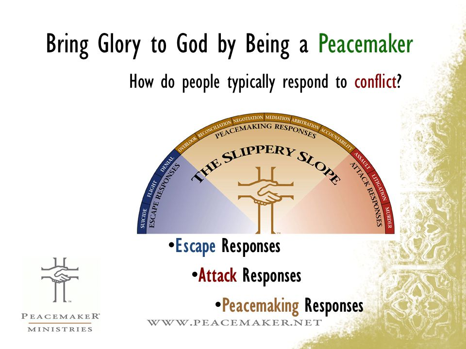 Bring Glory to God by Being a Peacemaker