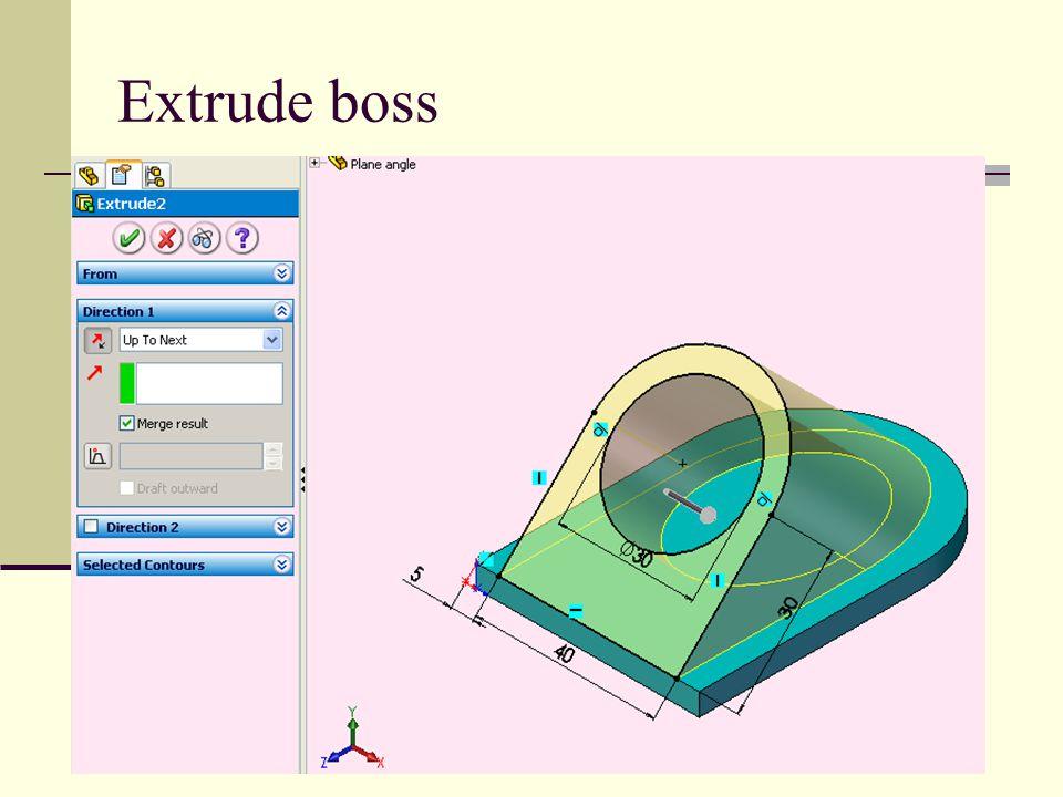 Extrude boss