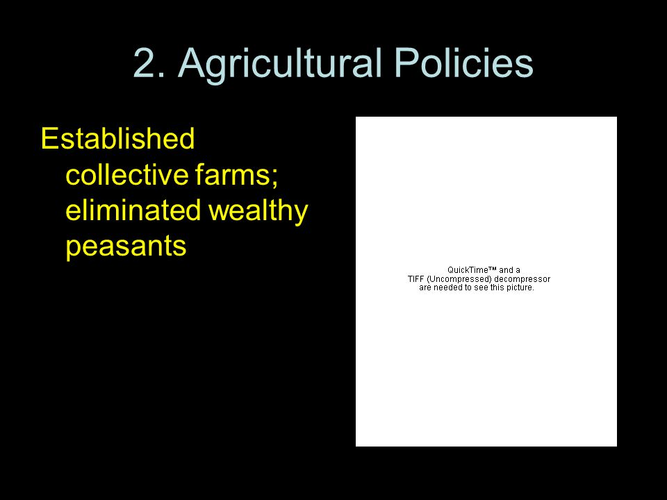 2. Agricultural Policies