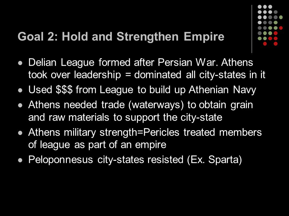 Goal 2: Hold and Strengthen Empire
