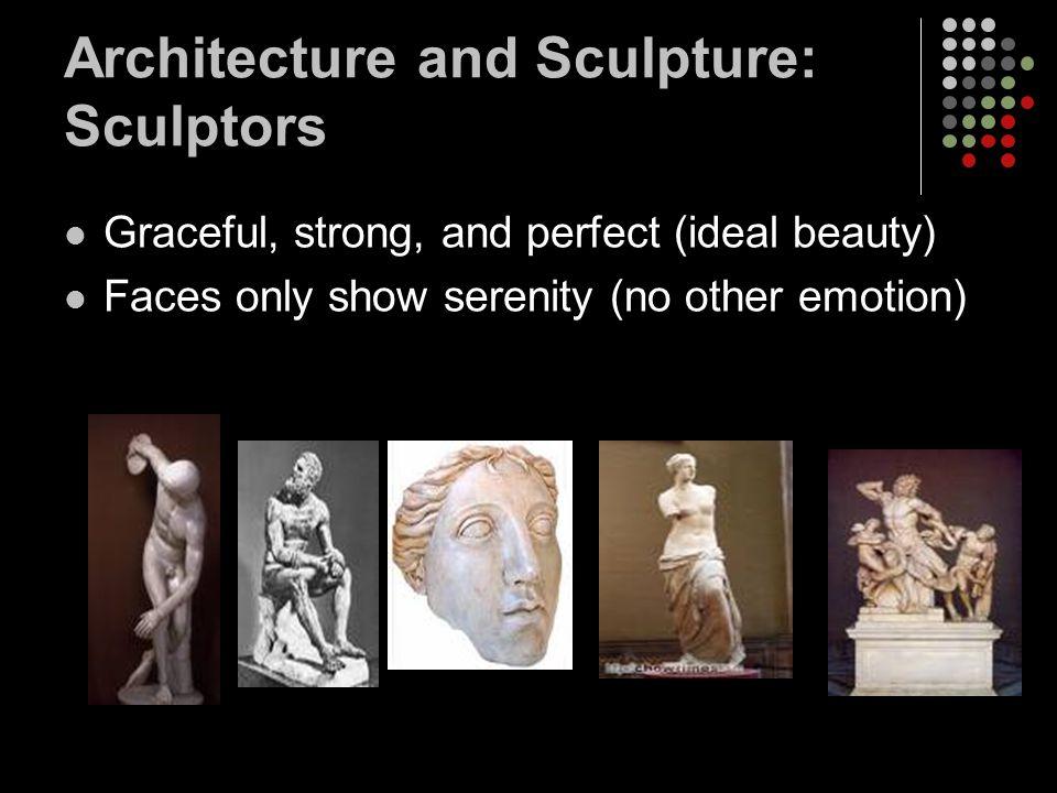 Architecture and Sculpture: Sculptors