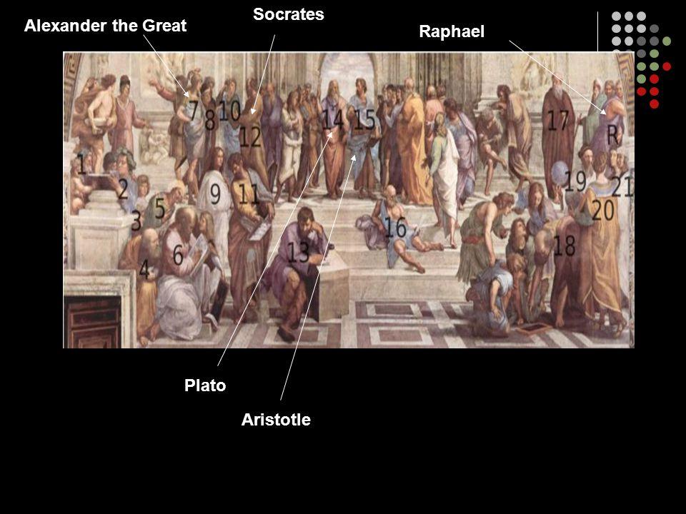 Socrates Alexander the Great Raphael Plato Aristotle