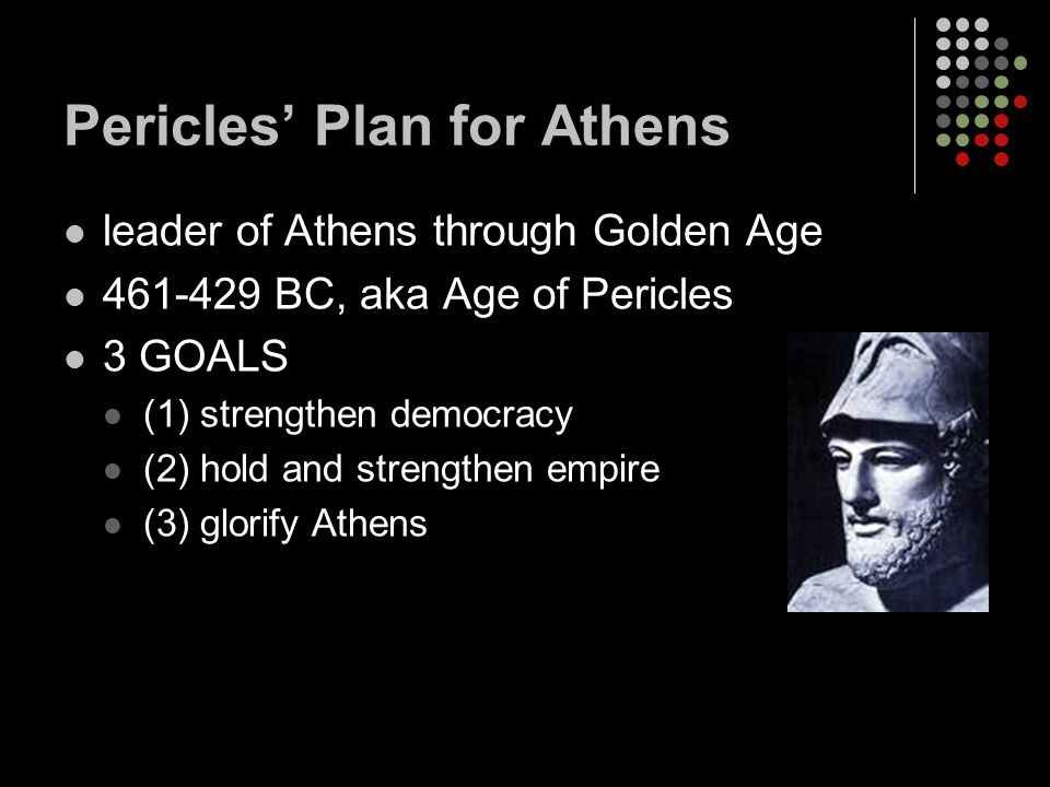 Pericles' Plan for Athens