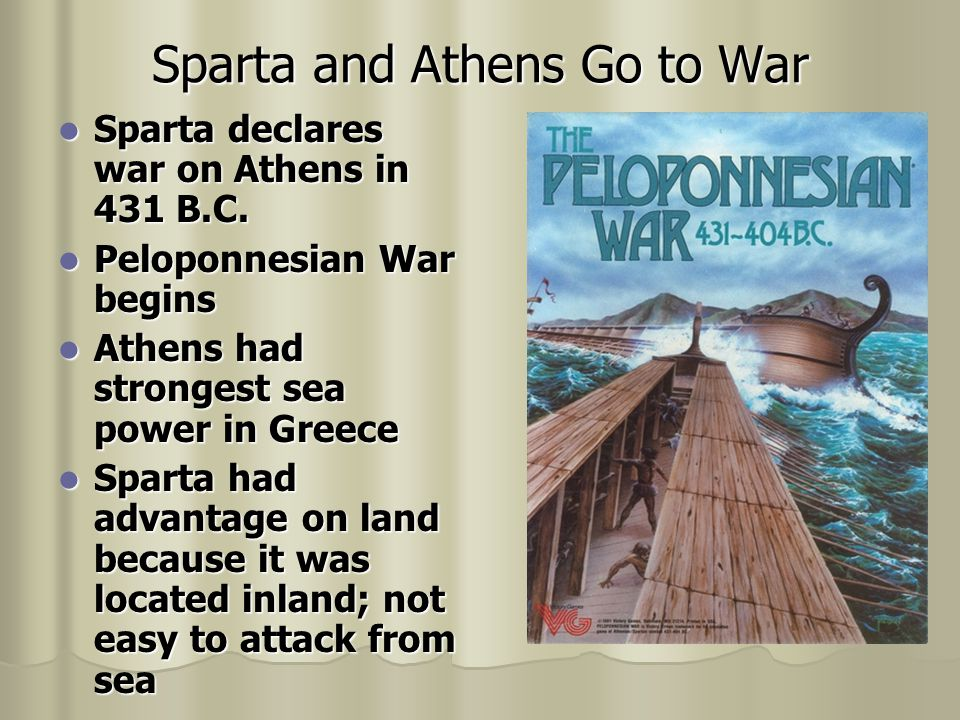 Sparta and Athens Go to War