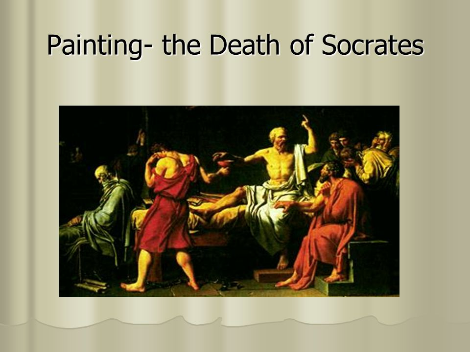 Painting- the Death of Socrates