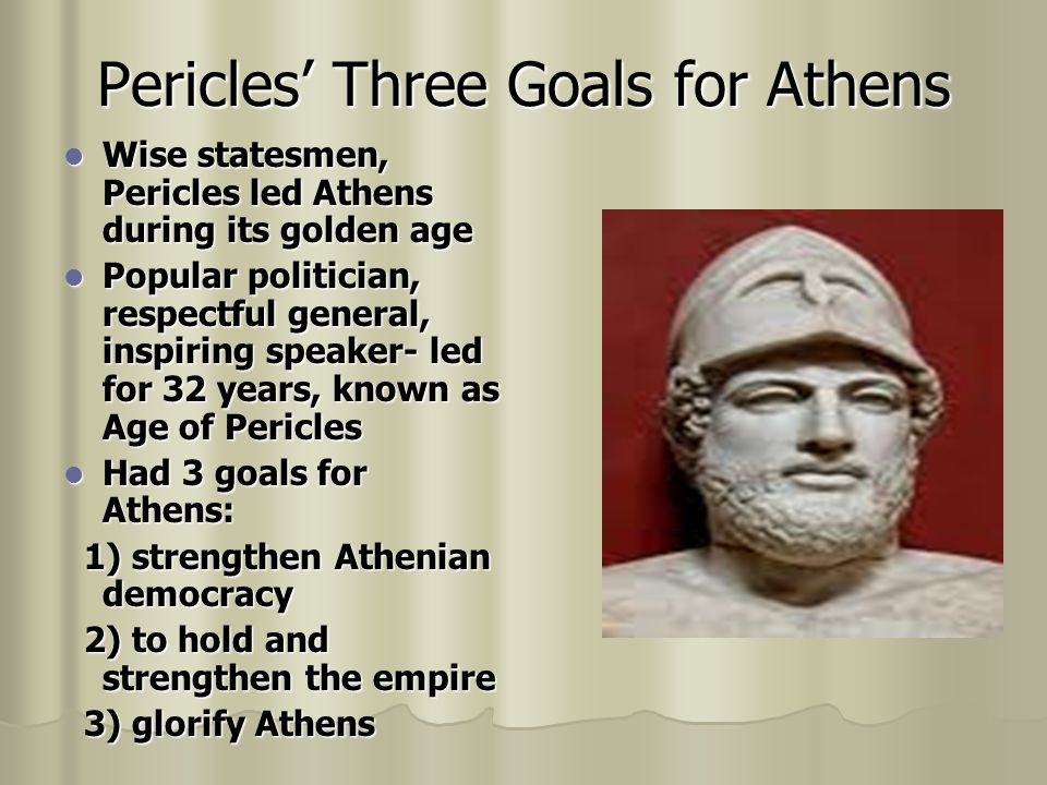 Pericles' Three Goals for Athens