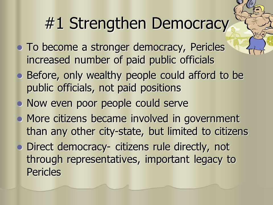 #1 Strengthen Democracy