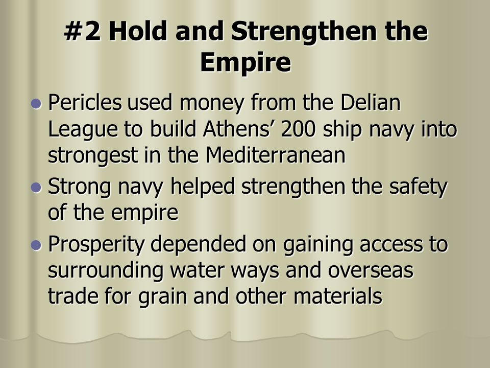 #2 Hold and Strengthen the Empire