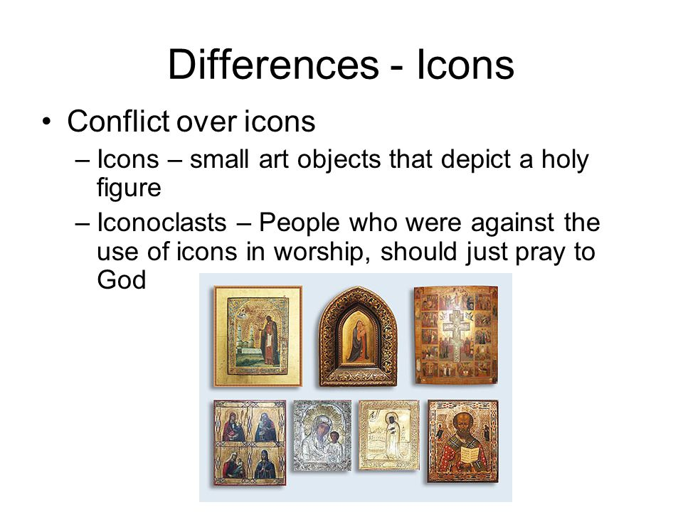 Differences - Icons Conflict over icons