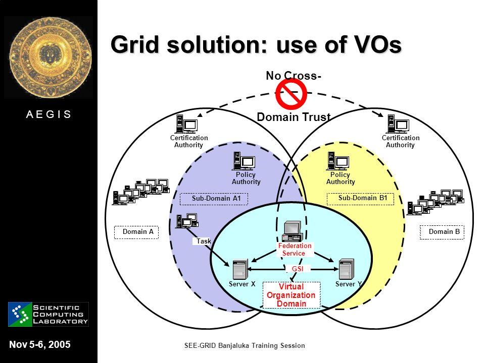 Grid solution: use of VOs