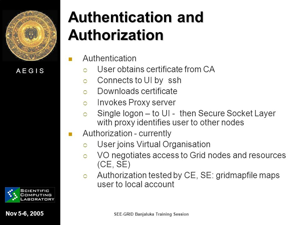 Authentication and Authorization