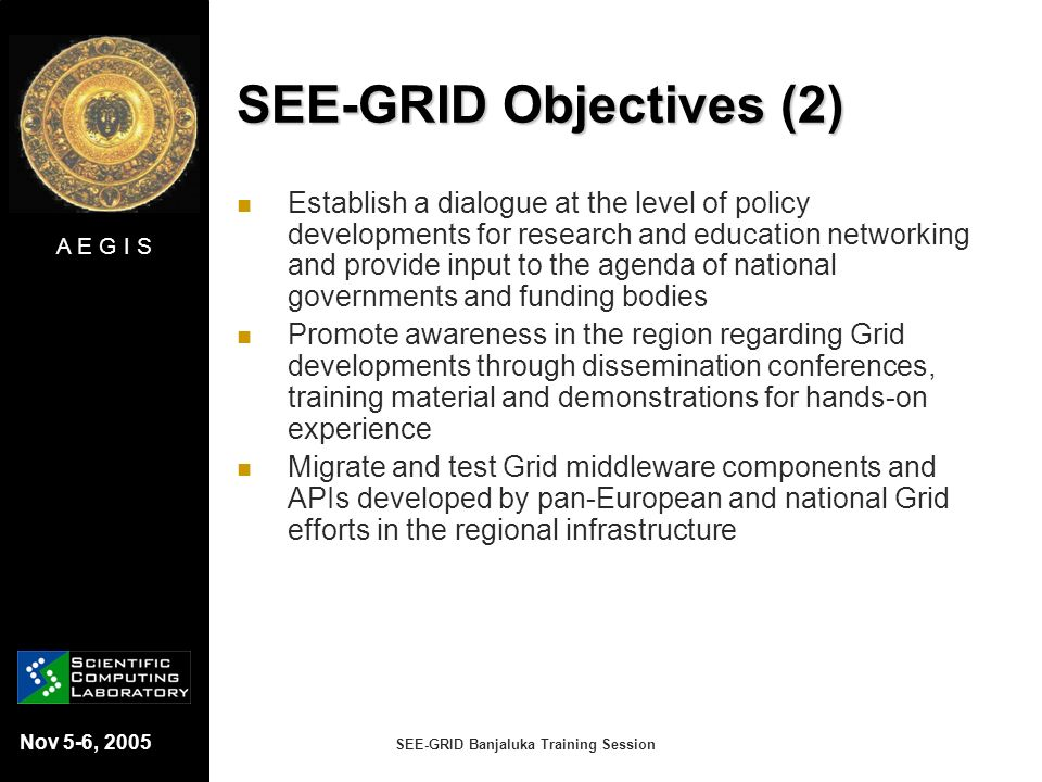 SEE-GRID Objectives (2)