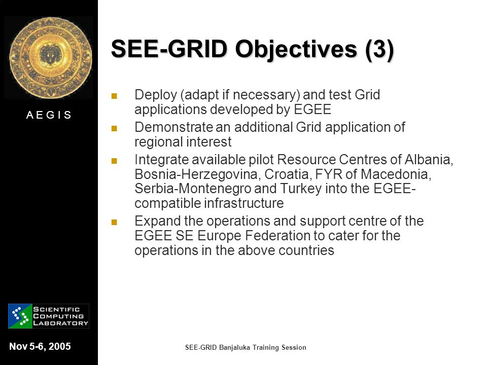SEE-GRID Objectives (3)