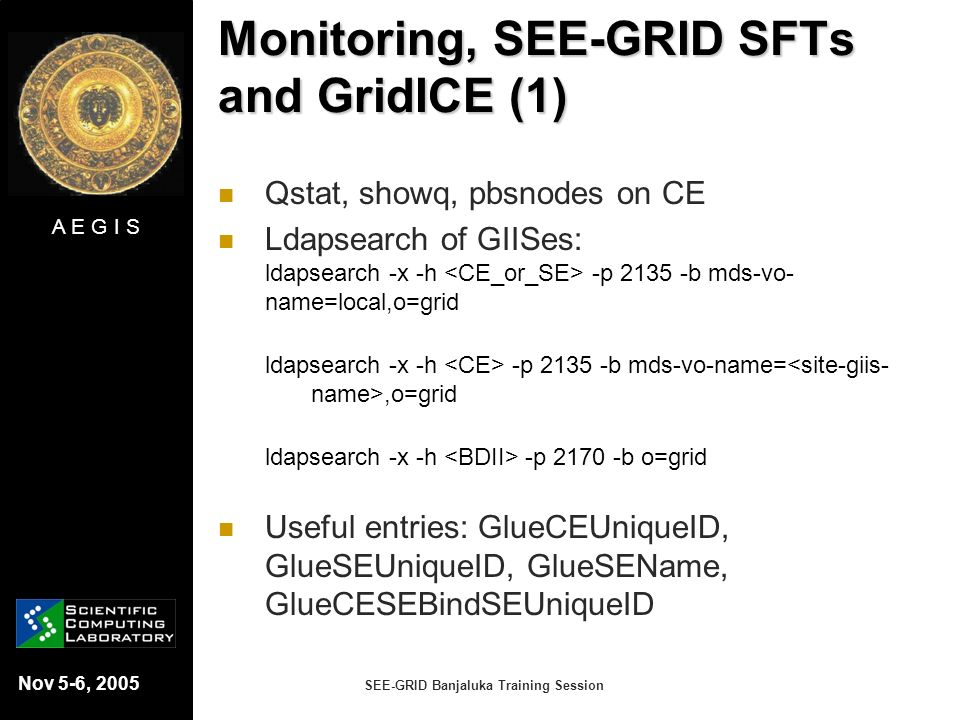 Monitoring, SEE-GRID SFTs and GridICE (1)