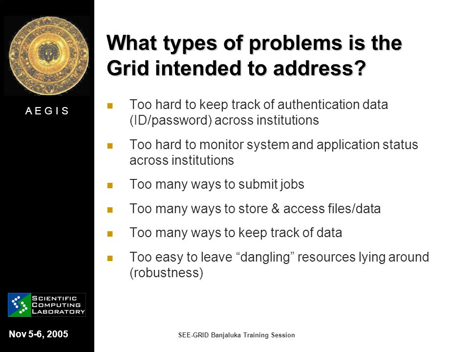 What types of problems is the Grid intended to address