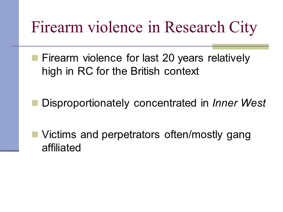 Firearm violence in Research City