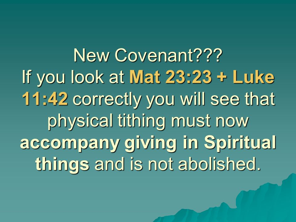 New Covenant .