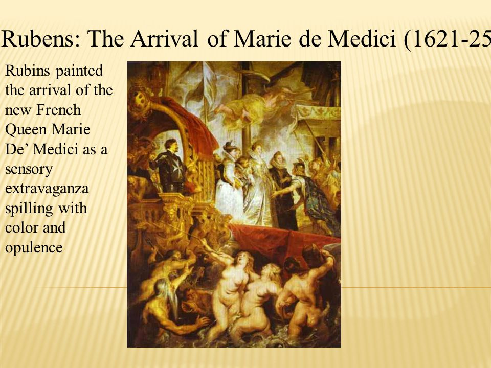 Rubens: The Arrival of Marie de Medici (1621-25)