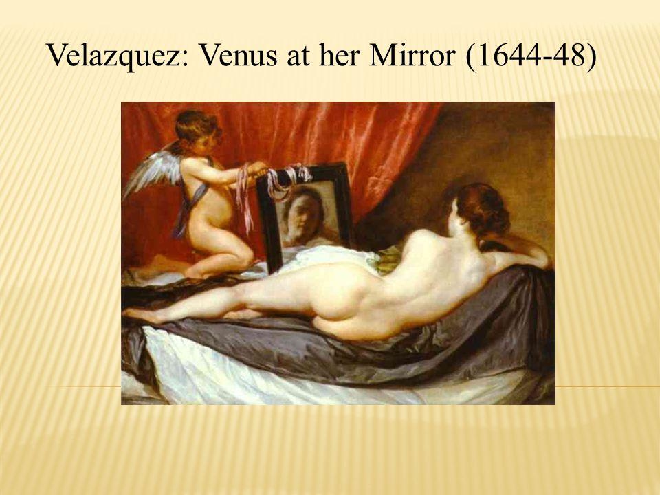 Velazquez: Venus at her Mirror (1644-48)