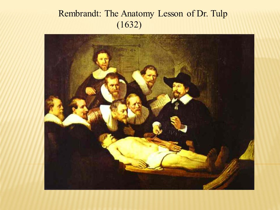 Rembrandt: The Anatomy Lesson of Dr. Tulp