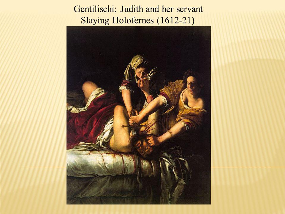 Gentilischi: Judith and her servant