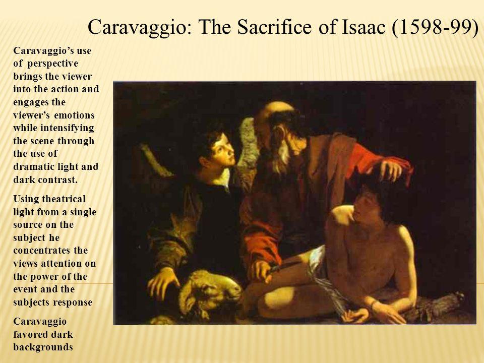 Caravaggio: The Sacrifice of Isaac (1598-99)