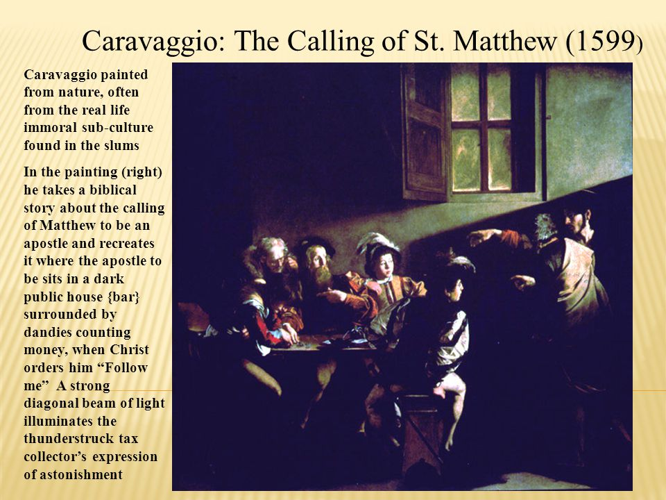 Caravaggio: The Calling of St. Matthew (1599)