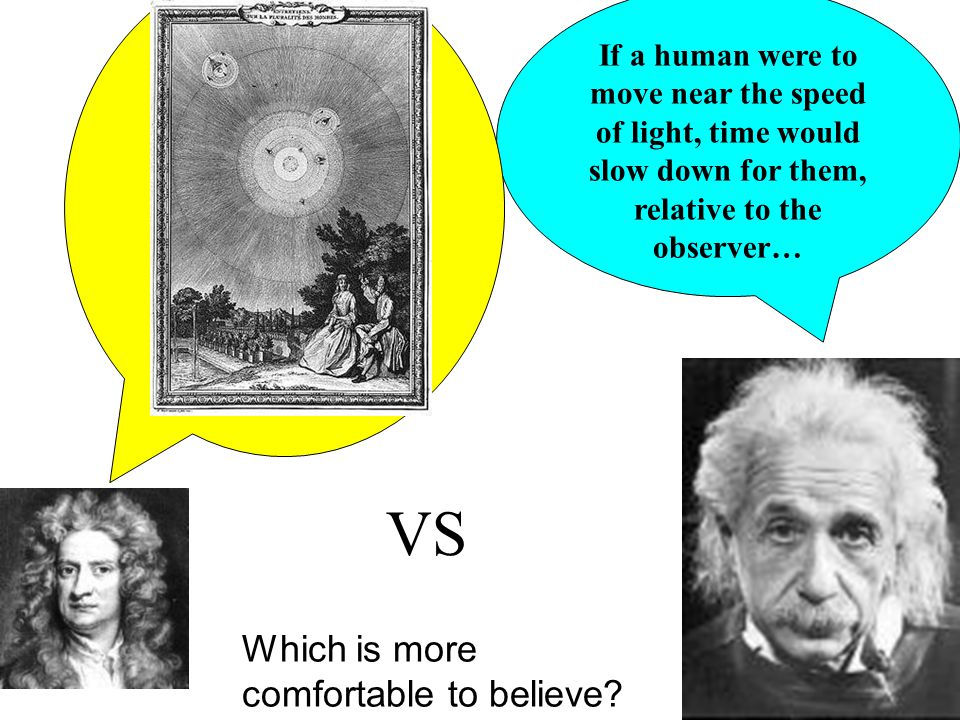 VS Which is more comfortable to believe