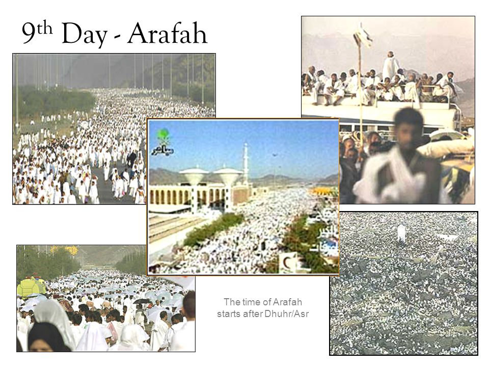 The time of Arafah starts after Dhuhr/Asr