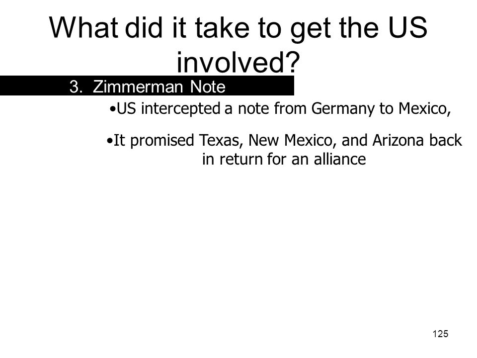 What did it take to get the US involved