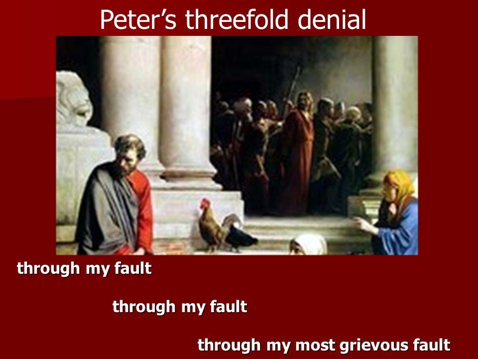 Peter's threefold denial