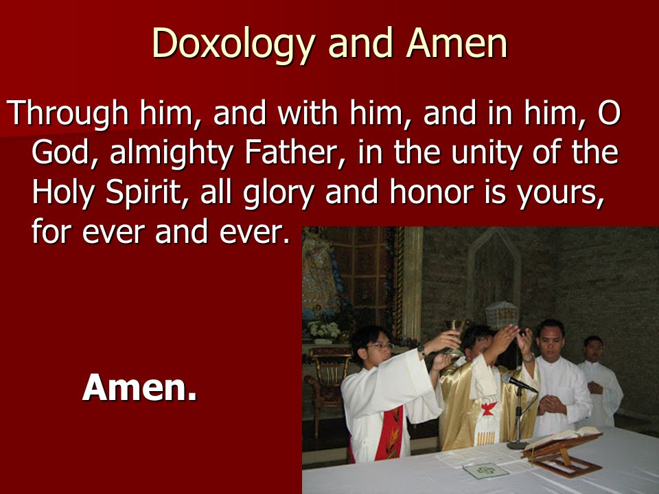 Doxology and Amen