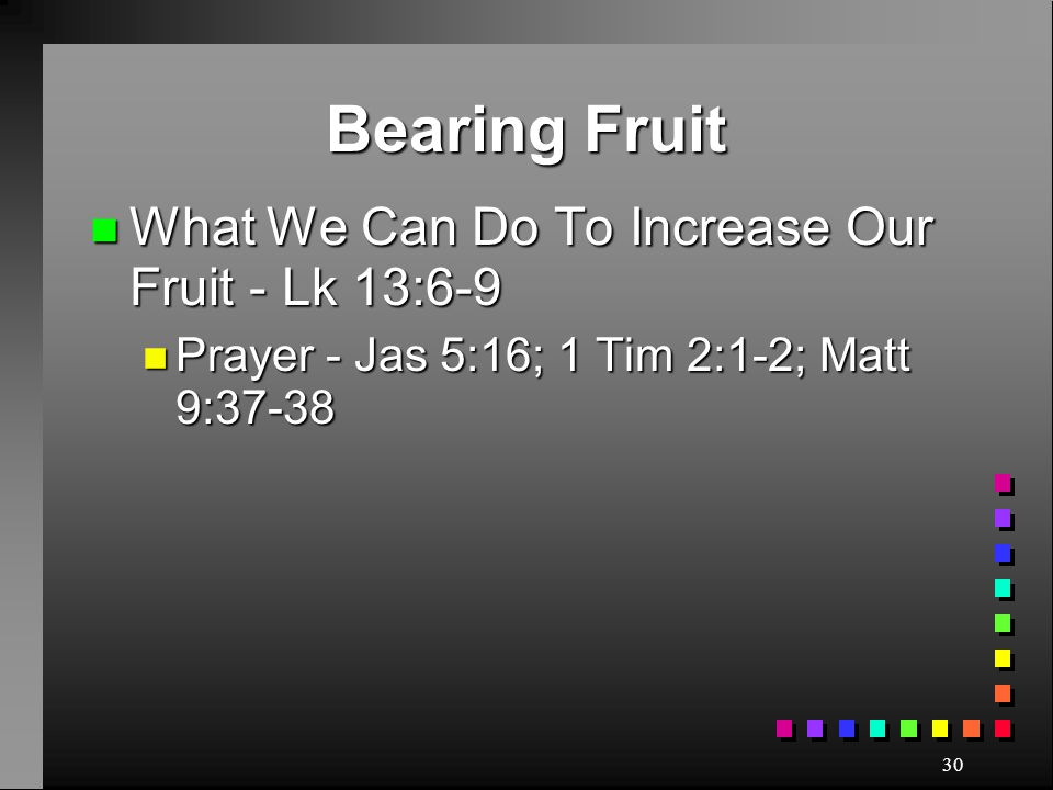 Bearing Fruit What We Can Do To Increase Our Fruit - Lk 13:6-9